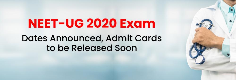 नीट-2020 परीक्षा का कार्यक्रम जारी नीट परीक्षा 26 जुलाई को दोपहर 2 से 5 बजे के बीच होगी परीक्षा