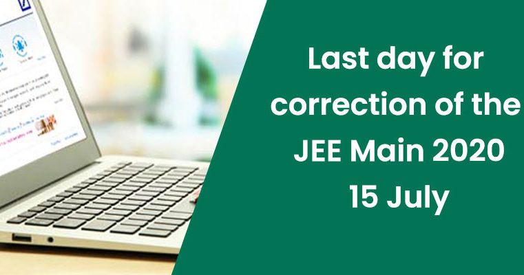 Last day for correction of the JEE Main