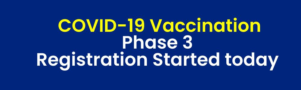 शुरू हुआ कोविड वैक्सीनेशन प्रोसेस, 18 वर्ष से ऊपर के लोग करा सकेंगे रजिस्ट्रेशन